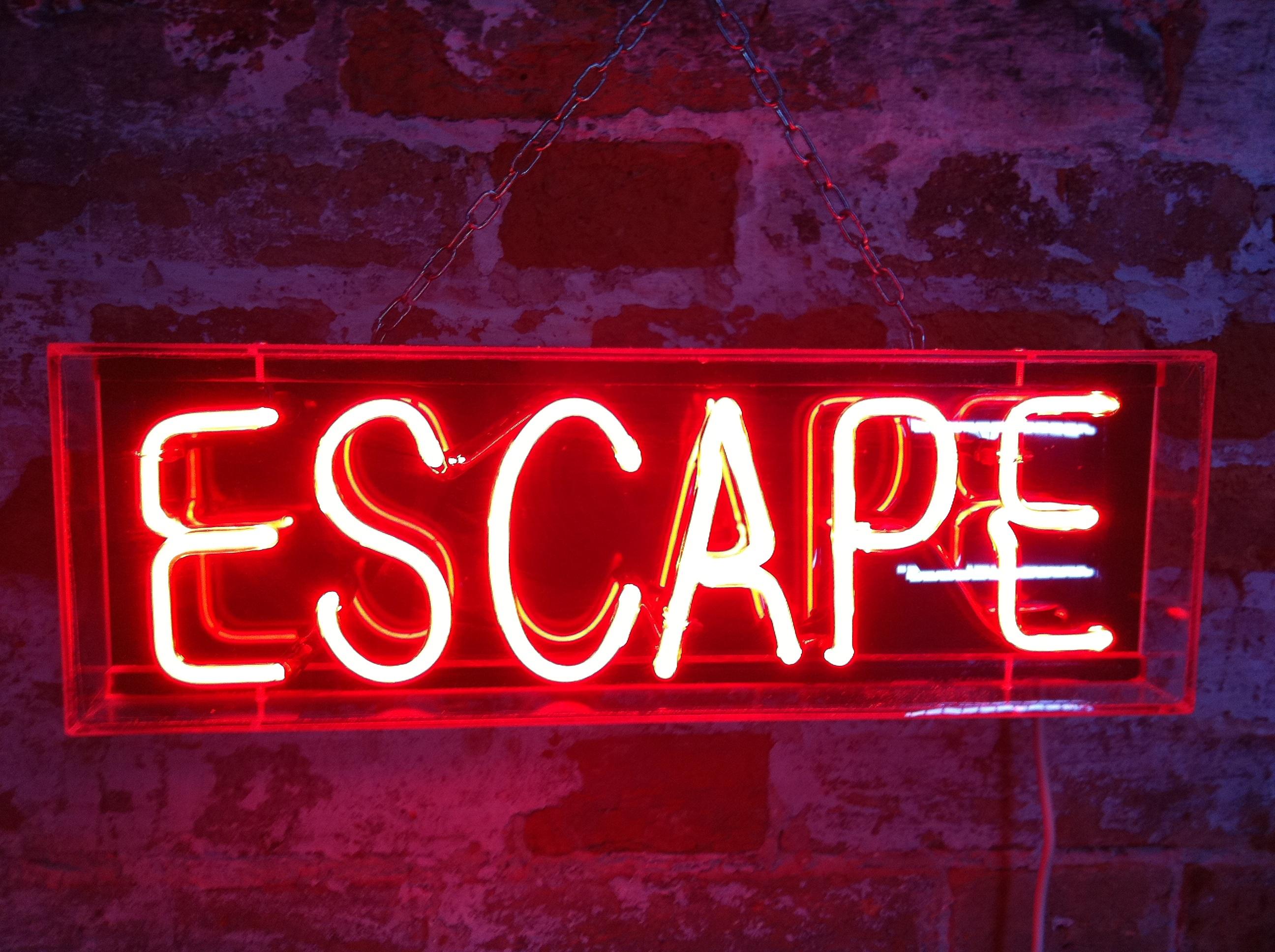 escape sign